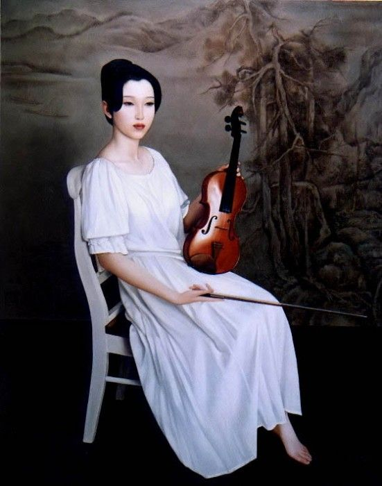 Художник Xue Yanqun родился в городе Даляне, в 1953-м году. Окончил Академию Изящных Искусств, Шеньян, в 1981-м году и остался там преподавать. В 1989-м году он получил степень магистра изобразительных искусств. Сейчас он - профессор в академии, и член Китайской Ассоциации искусств