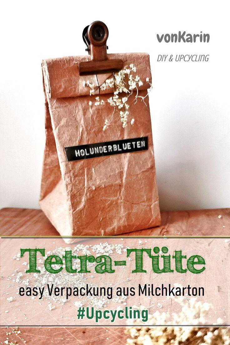 Tetrapack Tüten - ein neues Milchkarton-DIY