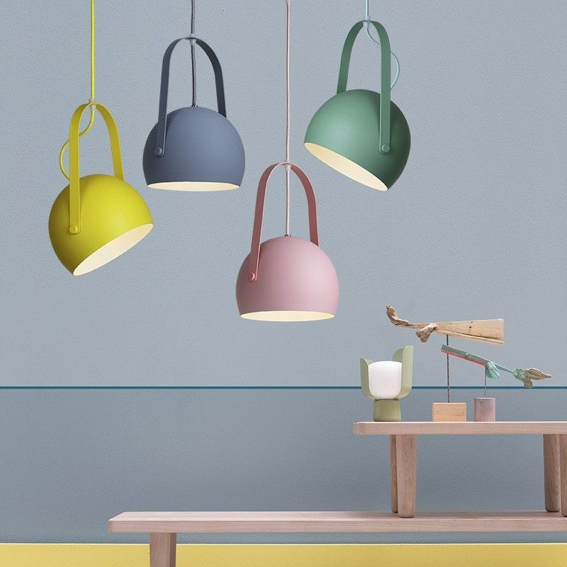 Made Of Durable Metal This Multicolor Single Light Pendant Light