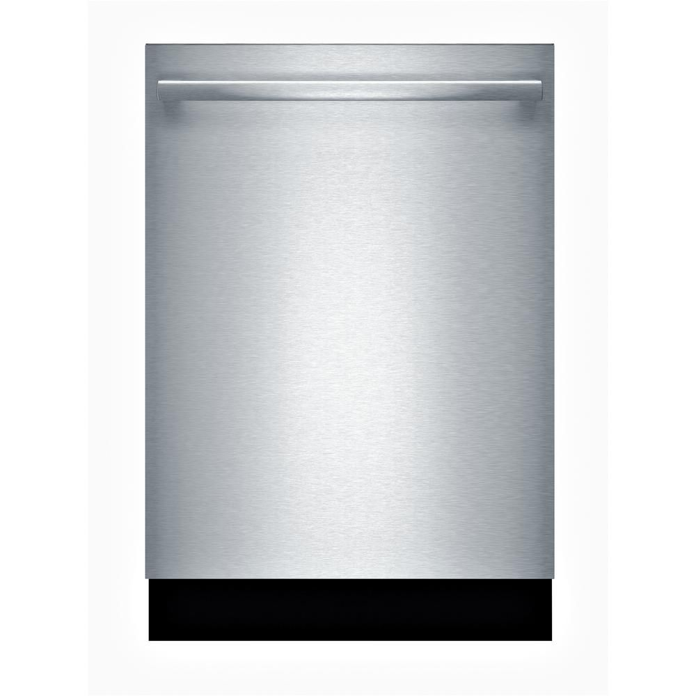 Bosch 100 Series 24 In Stainless Steel Top Control Tall Tub Dishwasher With Hybrid Stainless Steel Tub And 3rd Rack 48dba Shxm4ay55n The Home Depot In 2021 Built In Dishwasher Steel Tub Integrated Dishwasher