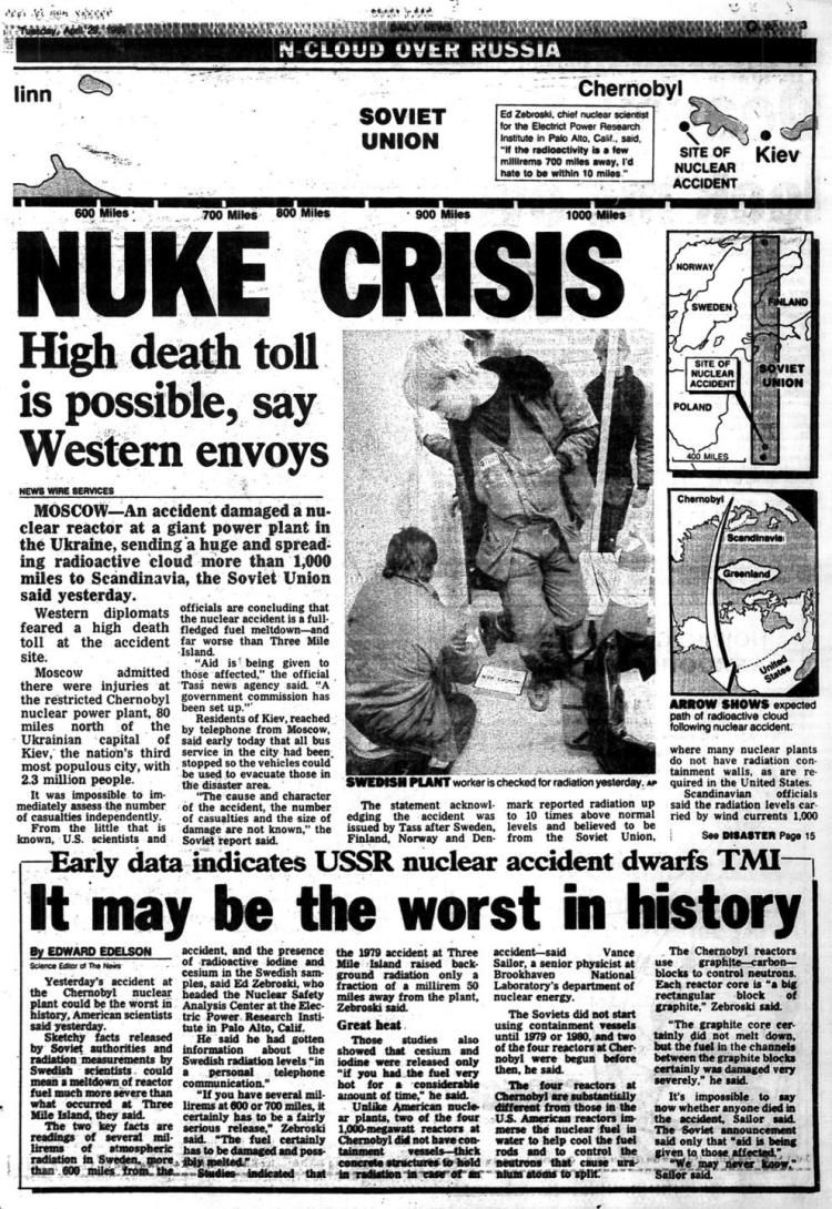 chernobyl disaster research paper The accident at the chernobyl nuclear power plant in ukraine has been described as the worst nuclear disaster the world has ever seen  even after many years of scientific research and.