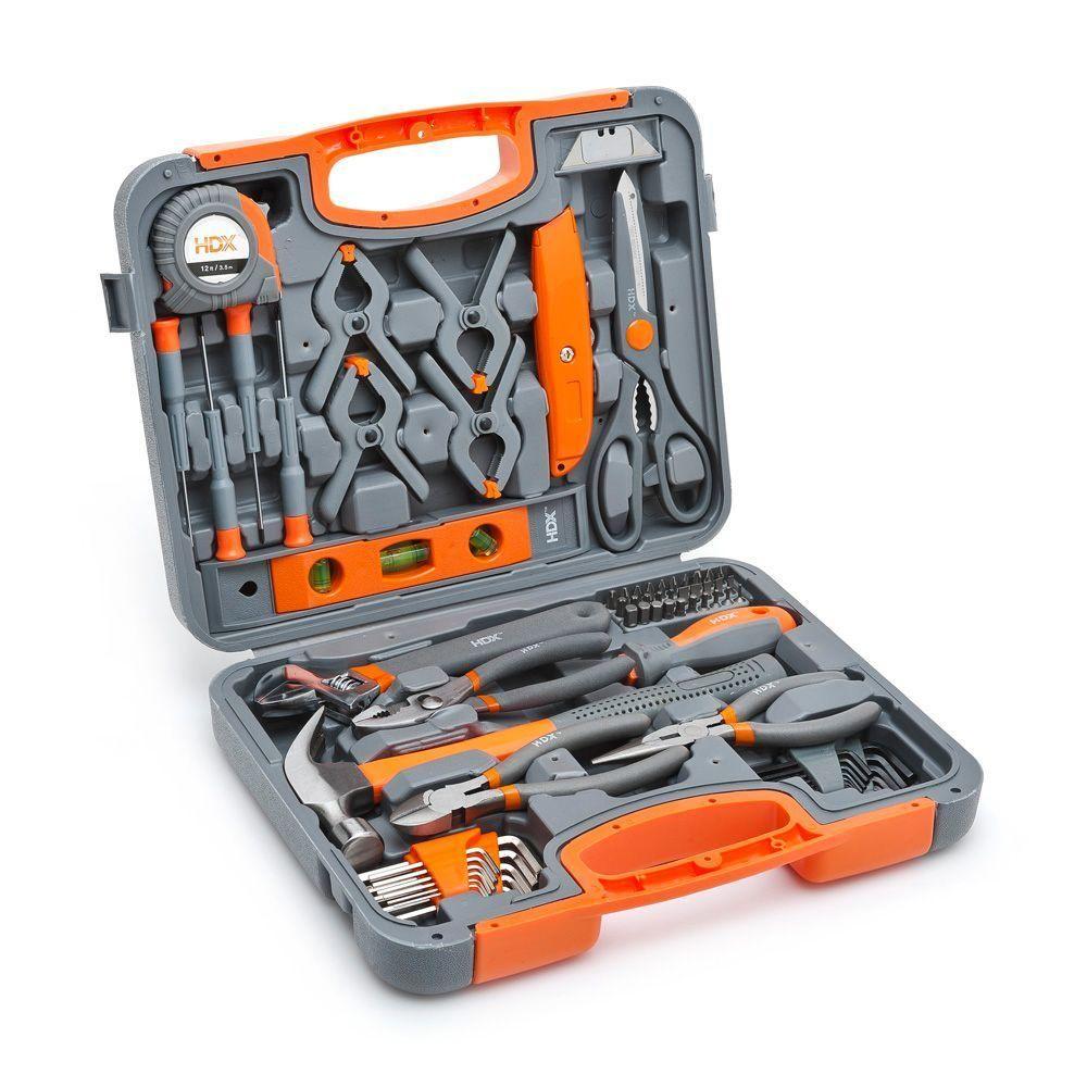 HDX Homeowners Tool Set (76-Pieces) | Tool set