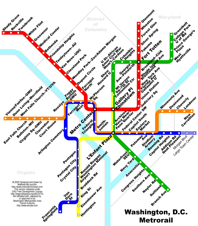 Het Ingewikkelde Metro Systeem In Washington DC US Als Het Ons - Map of the us washington dc