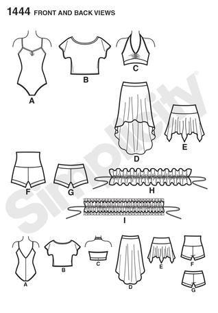 Dancewear Pattern Sewing And Tailoring Dance Wear