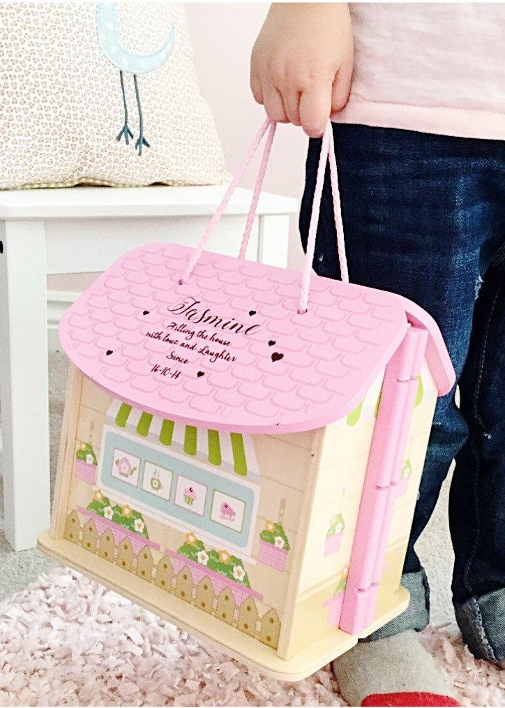 Girls first birthday gift, personalised dolls house, 1st