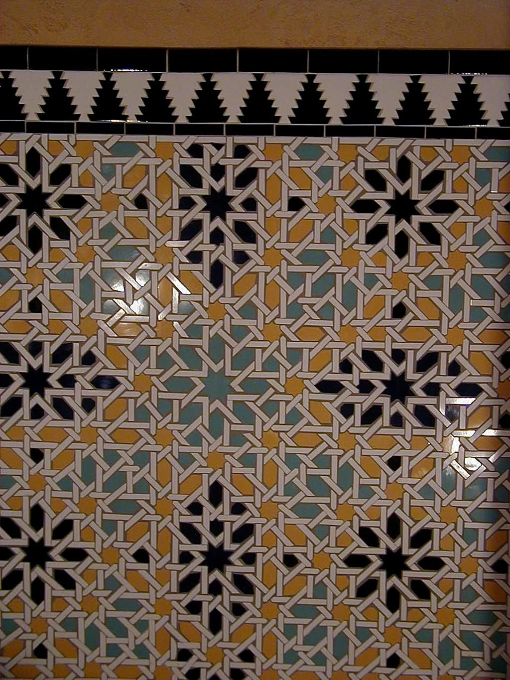 Alhambra Style Mosaic Walls Hand Cut Ceramic Tiles Custom - Custom cut ceramic tile