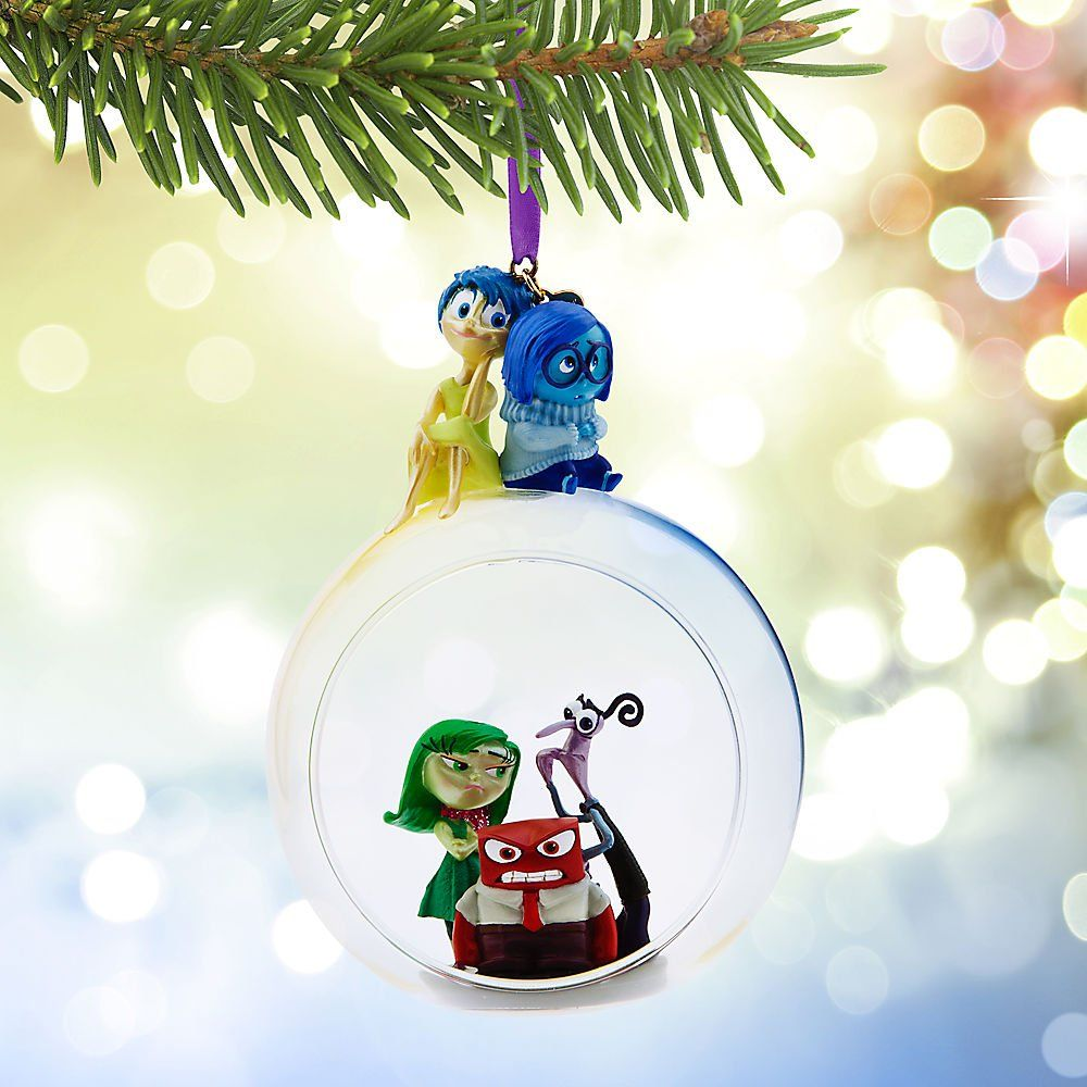 Disney Store Pixar Inside Out Glass Globe Sketchbook Ornament ...