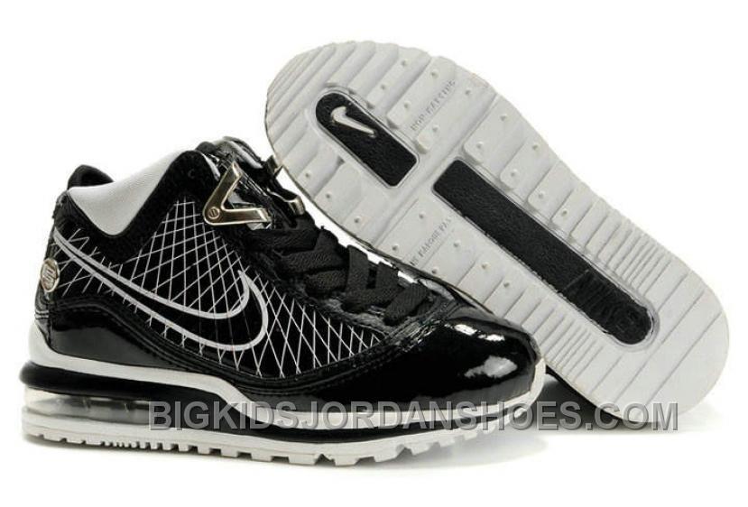 Nike Air Max LeBron VII Kids Cool Grey Black Hot  89dc5b12f1