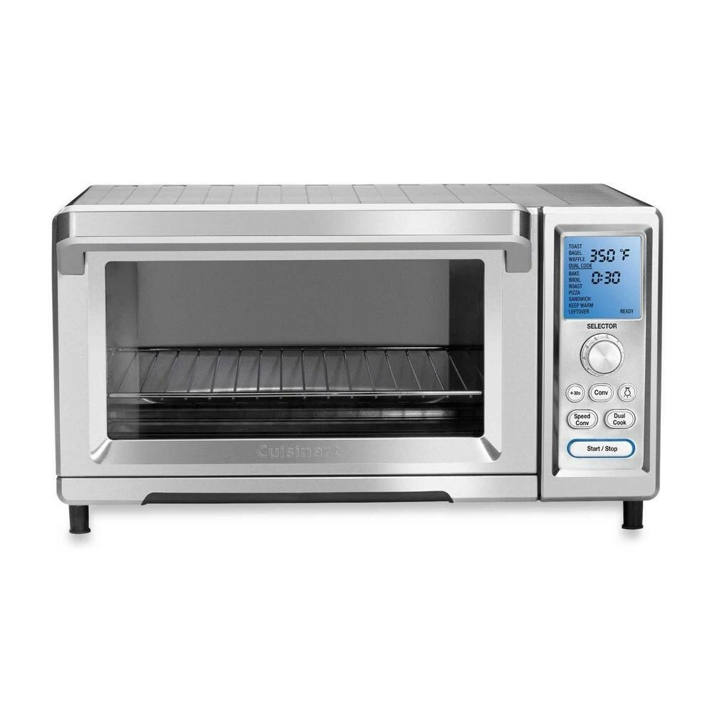 Cuisinart Convection Toaster Oven Stainless 1800w Rack Pan 13 Pizza Stone Ovens Ideas Of Ovens Ove Convection Toaster Oven Toaster Oven Countertop Oven