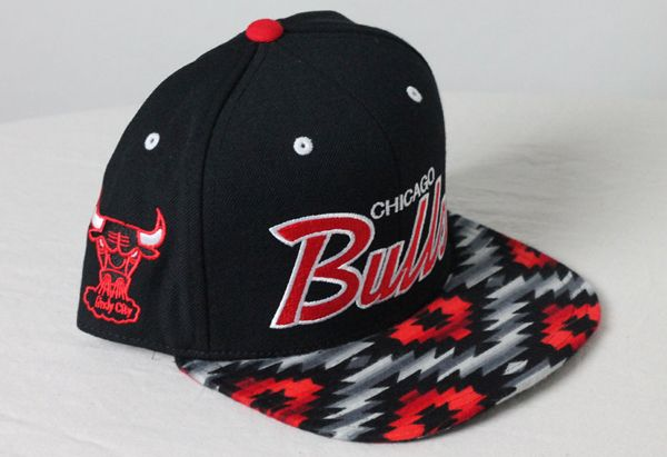 ab05eaccc Custom Mitchell & Ness Chicago Bulls Aztec Fabric Snapback | Chicago ...