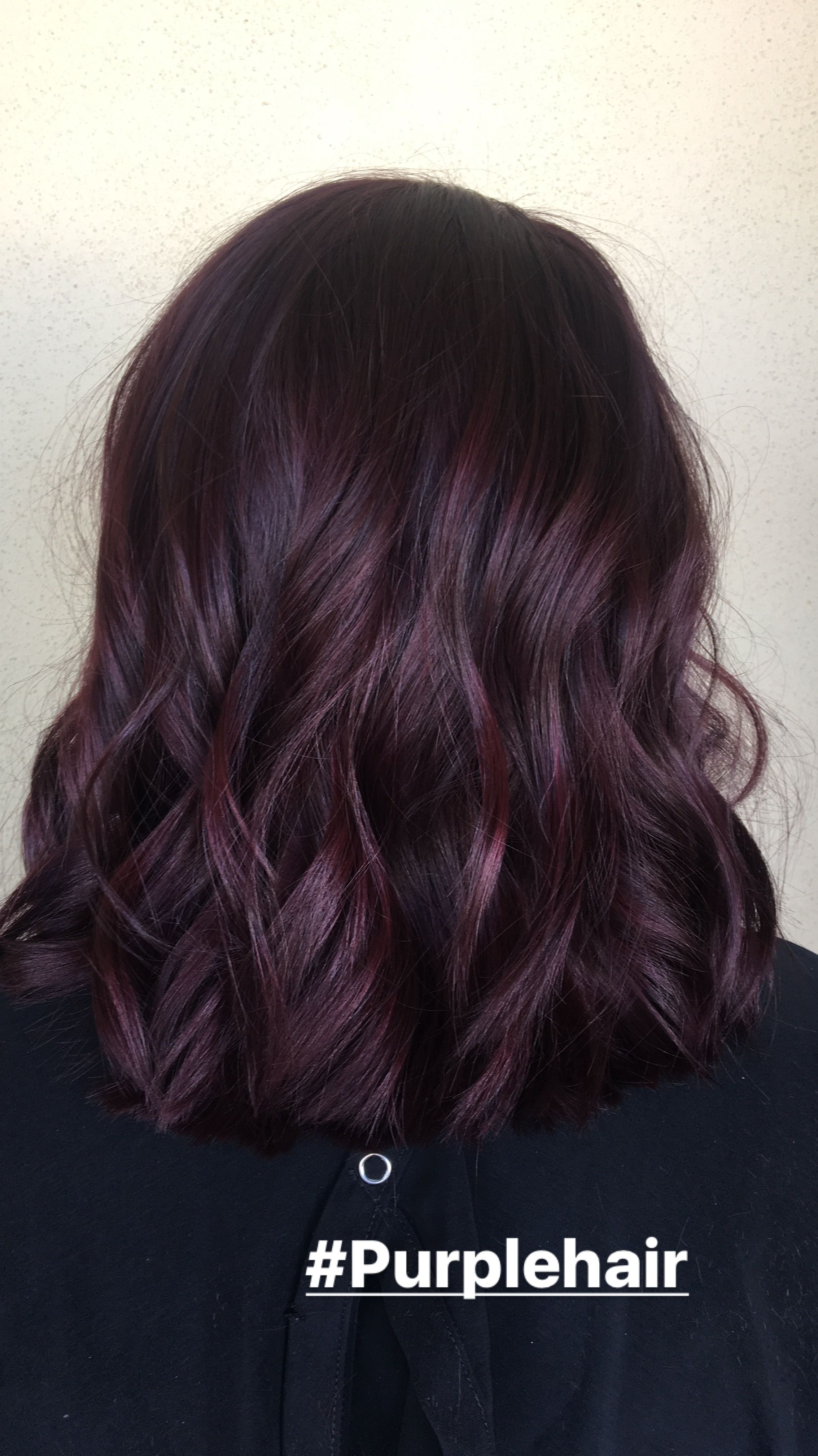 Perfect Dark Purple Hair Color Done By Alexaa3 At Habitsalon