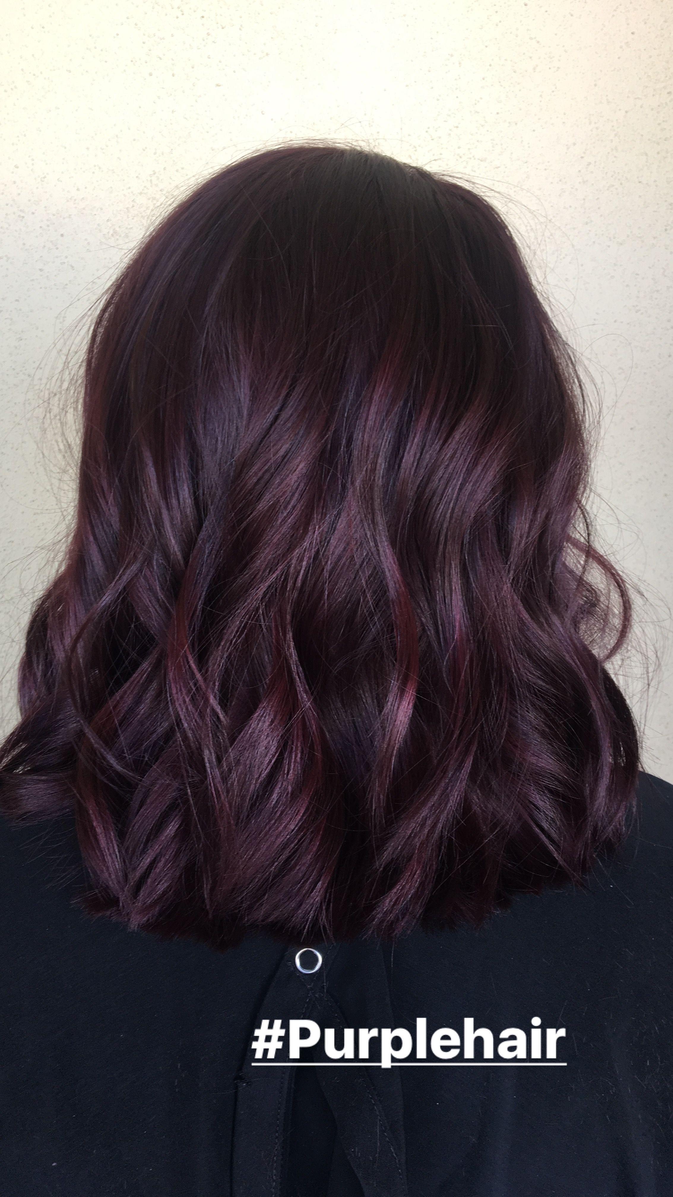 Perfect Dark Purple Hair Color Done By Alexaa3 At Habitsalon ヘアカラー おしゃれ 髪型 ヘアカラー パープル