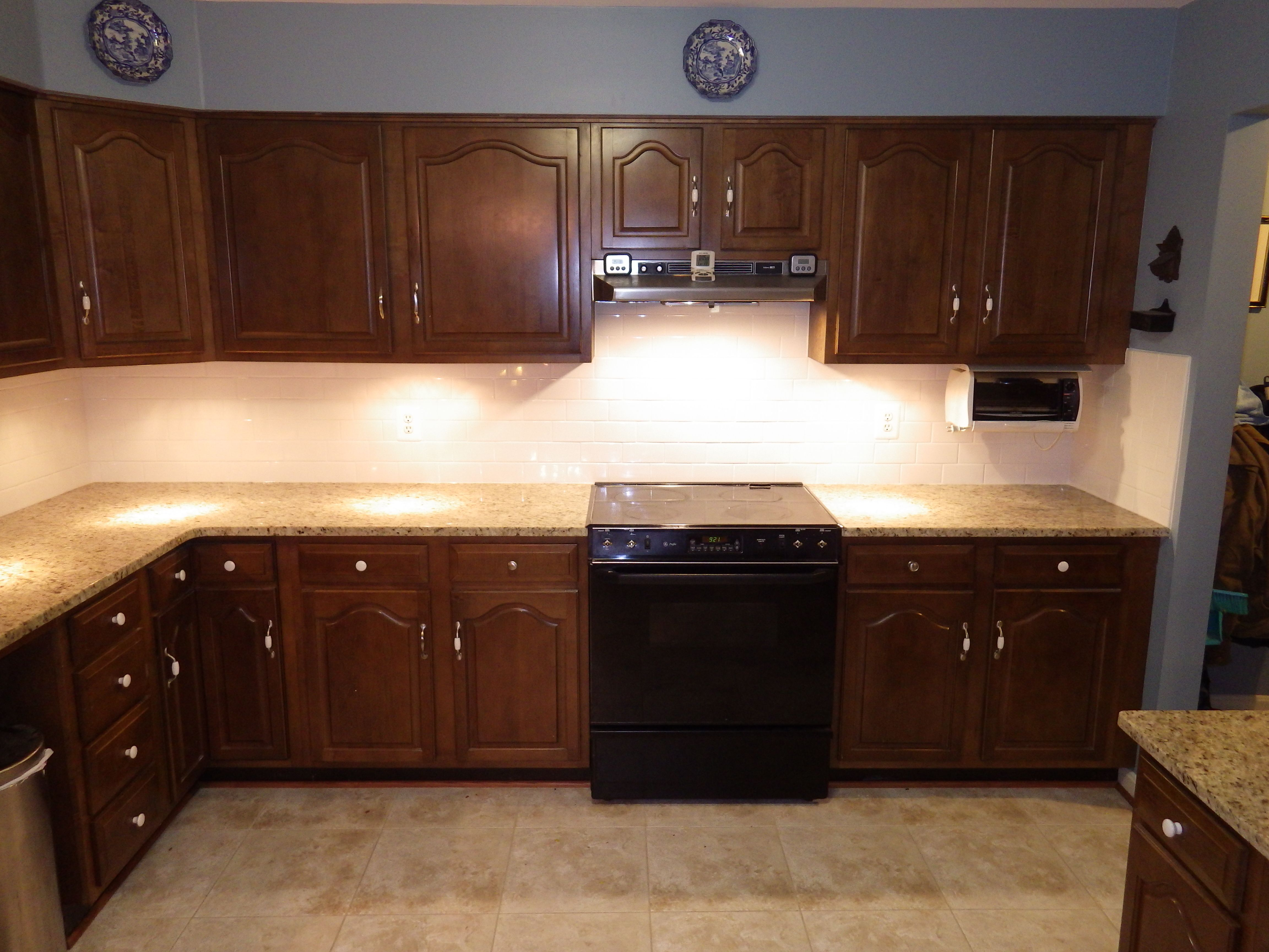 Best The After My Beautiful Blue And White Kitchen The Dark 640 x 480