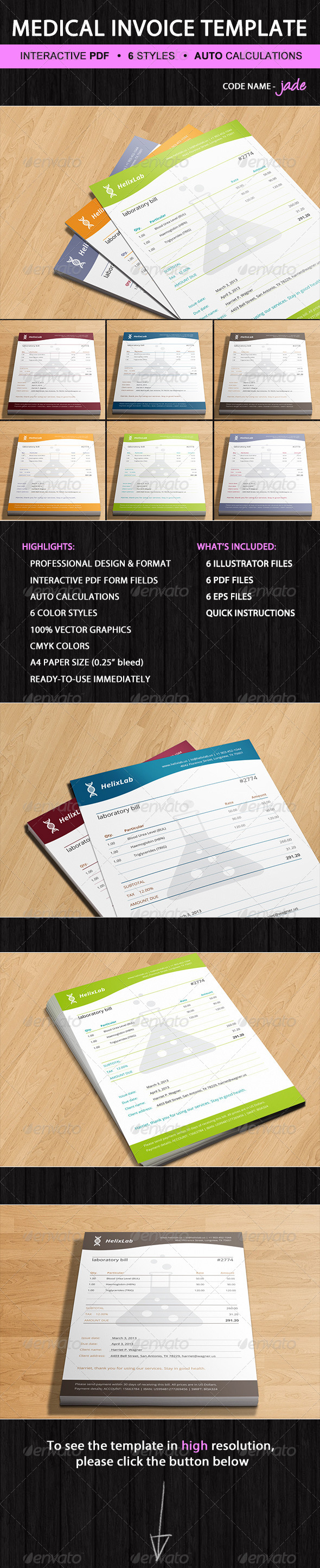 Medical Invoice Template     Medical Invoice Template  Medical     Laboratory Invoice Template