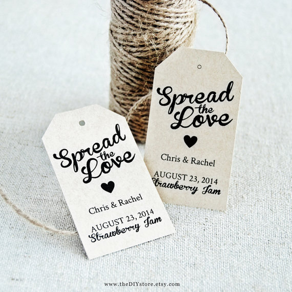 Spread The Love Diy Favor Tag Template Text Editable Medium Tag