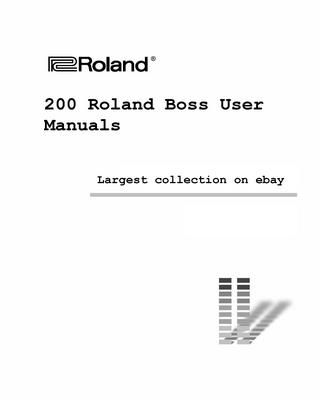 Giant Roland Boss Manual Collection Vol 1 In 2021 Roland Boss Delay Pedal Recorder Music