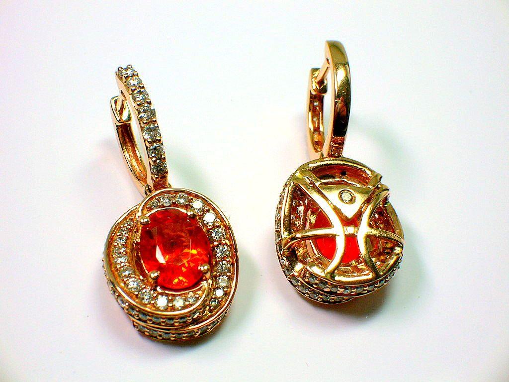 Levian Fire Opal Earrings