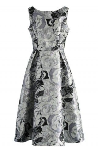 Floral Glitter Jacquard Prom Dress | Indie, Prom and Contact form