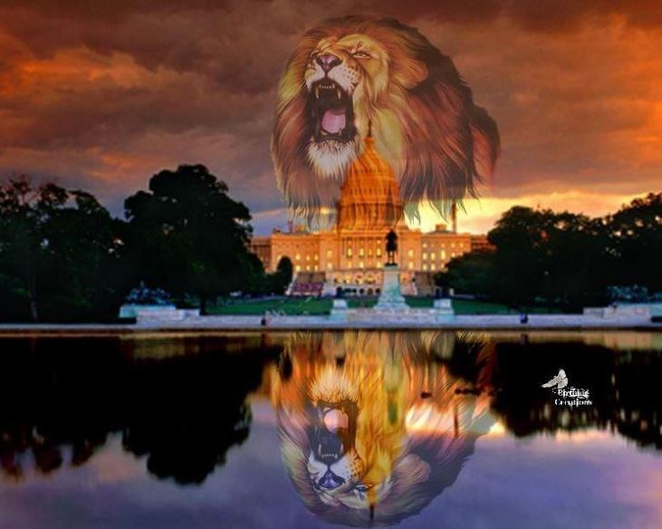 Lion of Judah over United States government