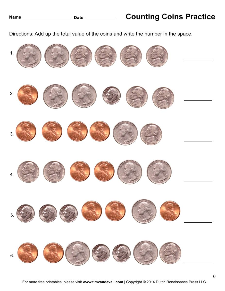 1st Grade Money Worksheets Math Worksheet For Kids Counting Coins Worksheet Money Worksheets Counting Coins
