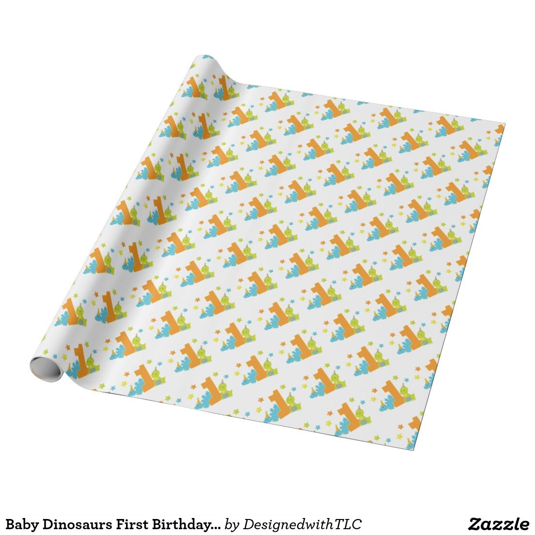 Baby Dinosaurs First Birthday Wrapping Paper