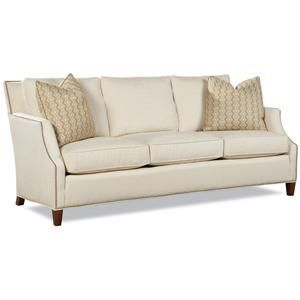 Huntington House 7115 Contemporary Sofa with Tapered Wood Legs - Baer's Furniture - Sofa Boca Raton, Naples, Sarasota, Ft. Myers, Miami, Ft. Lauderdale, Palm Beach, Melbourne, Orlando, Florida