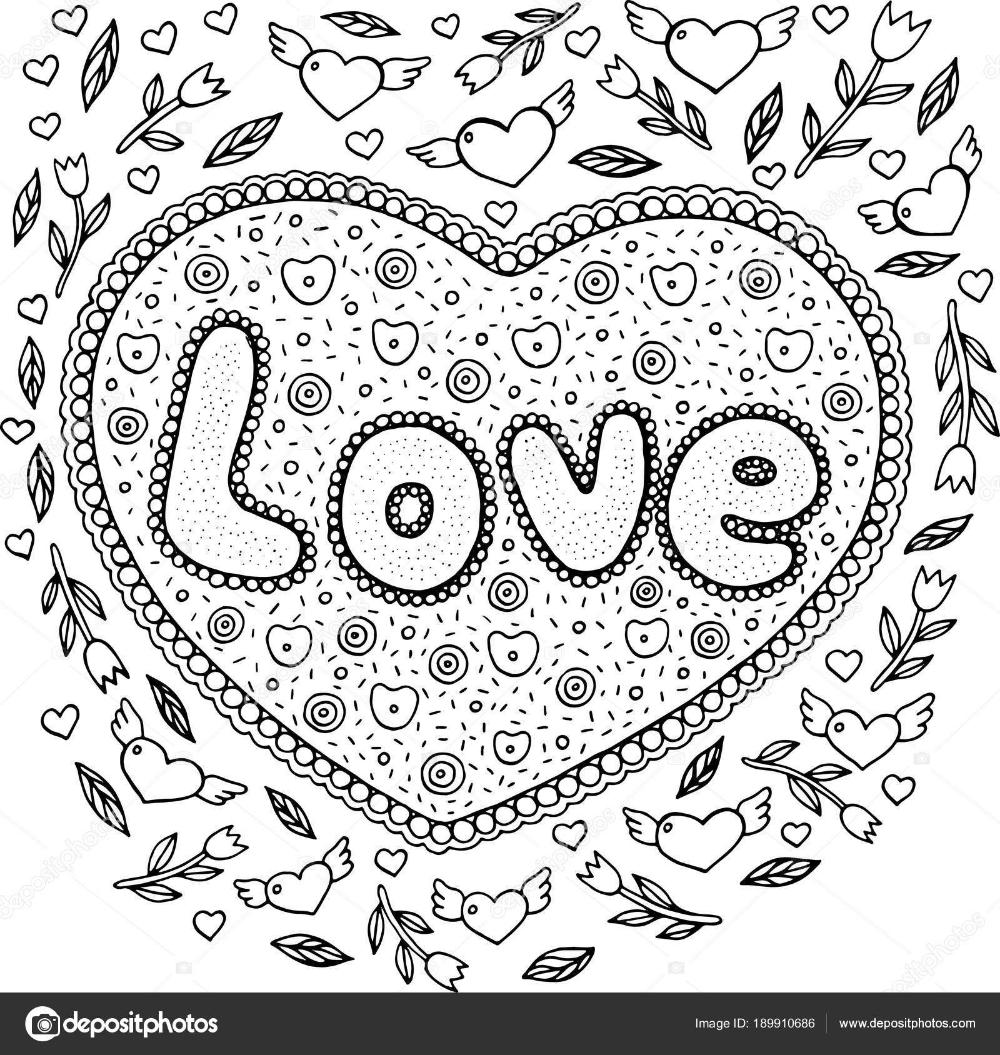 Descargar - Página para colorear para adultos con palabra mandala y el  amor. Doodle lett — Ilustr… en 2020 | Letras garabateadas, Páginas para  colorear para adultos, Doodle
