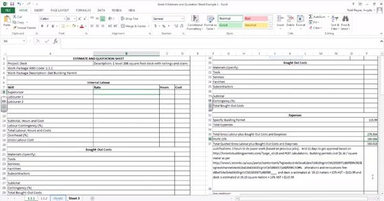 construction estimate forms pdf cost estimating sheet - estimate template