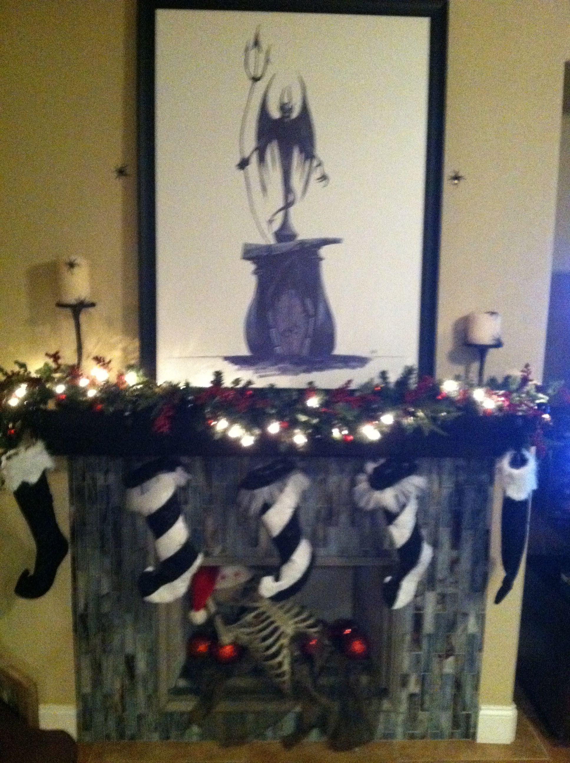 nightmare before christmas fireplace mantle | nightmare before ...