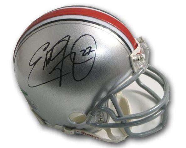 new concept 6e78f 66d4f Eddie George Autographed Ohio State Football Mini Helmet UDA ...