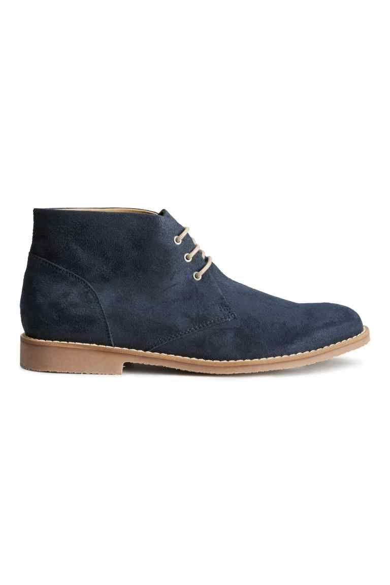 Trzewiki Ciemnoniebieski On H M Pl Desert Boots Beautiful Sneakers Boots