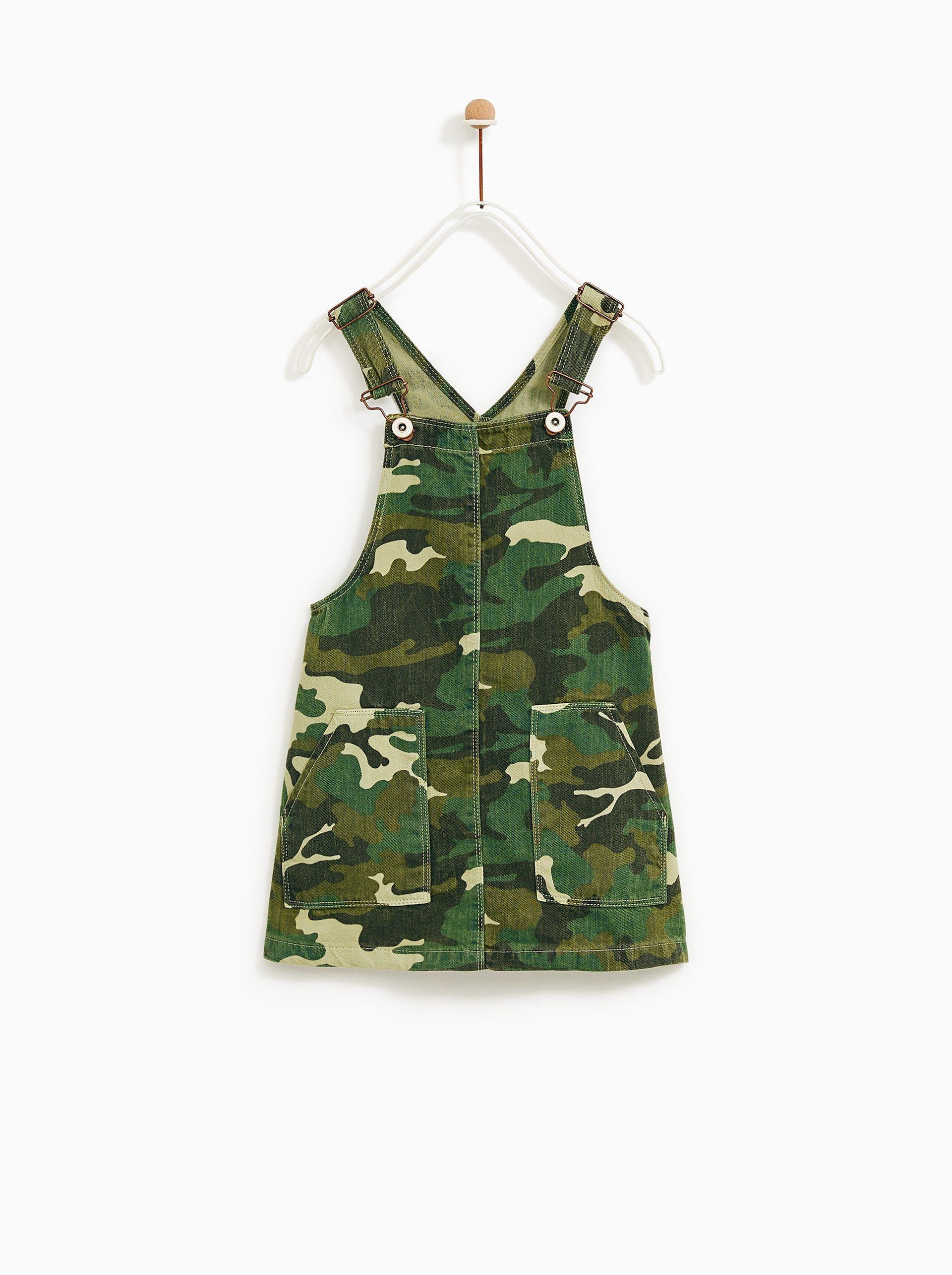6f002eb04b Camouflage denim pinafore dress in 2019 | Scarlett-Rose | Denim ...