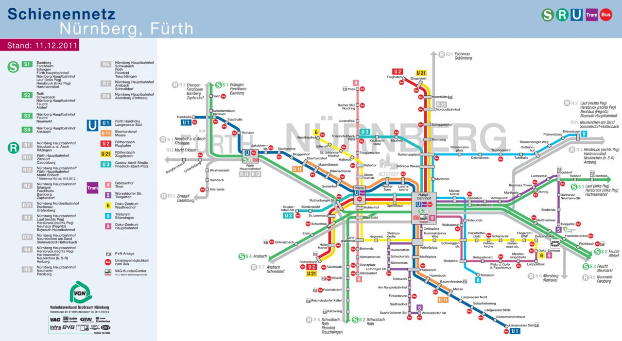 Official Map NrnbergFrth Germany 2012 Transit Maps Pinterest