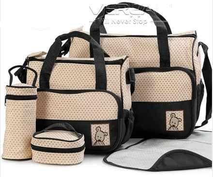 kit bolsa maternidade importada bebê 5 peças várias cores