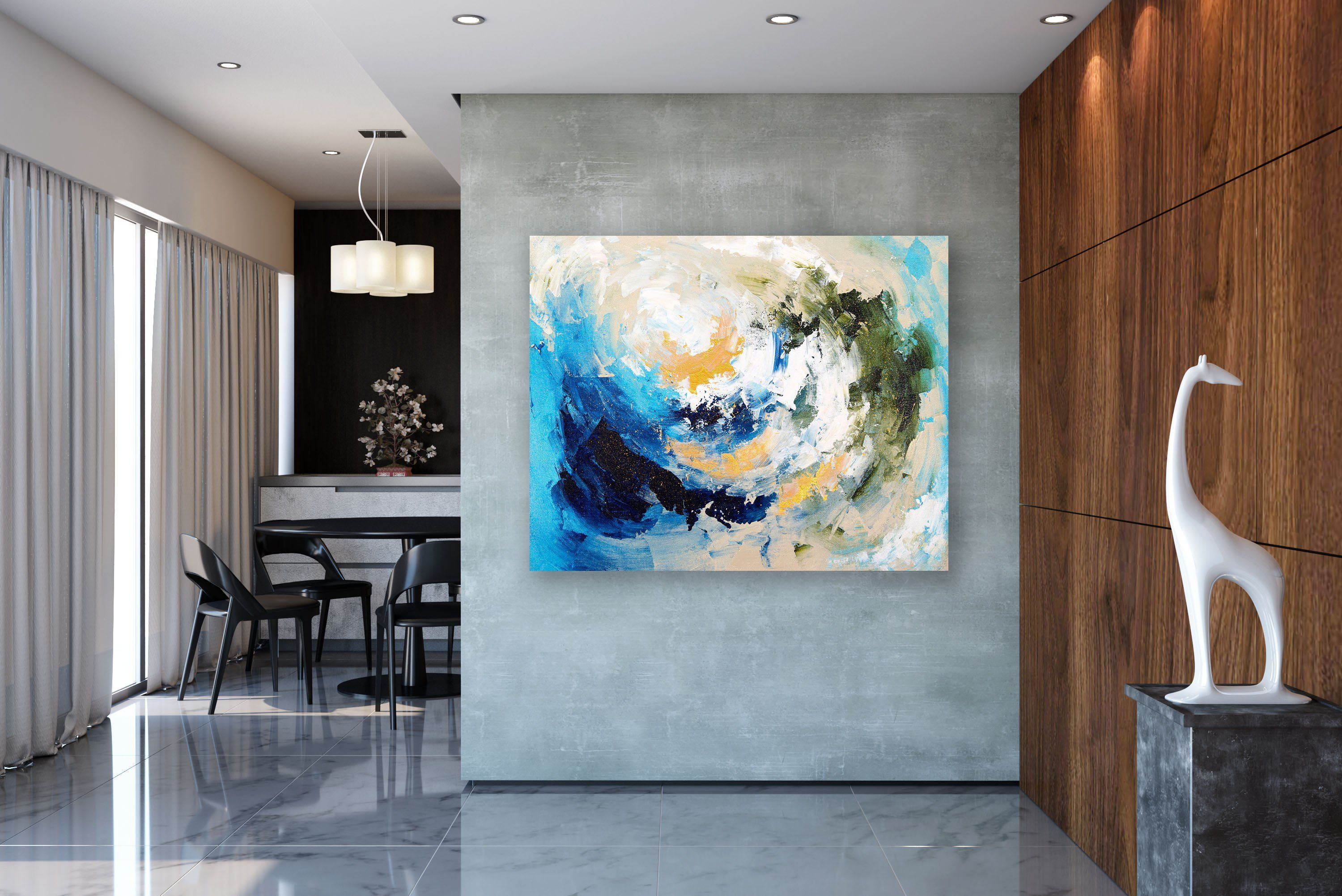 Large Abstract Painting Texture Painting Colorful Abstract Large
