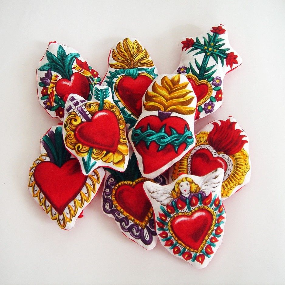 Mexican Milagro Heart Ornaments