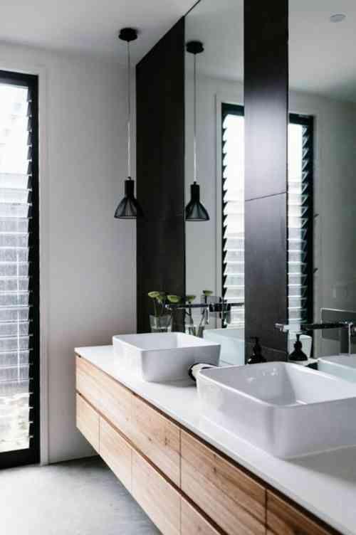 Meuble salle de bain bois : 35 photos de style rustique   Meubles ...