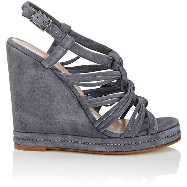 Womens Suede Platform Wedge Sandals Barneys New York zmPz0s39