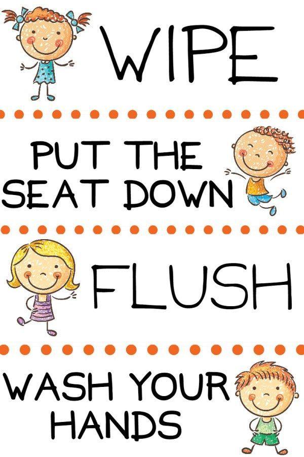 Kids Potty Training Bathroom Basket Kids Bathroom Sign Kids Potty Potty Training Kids