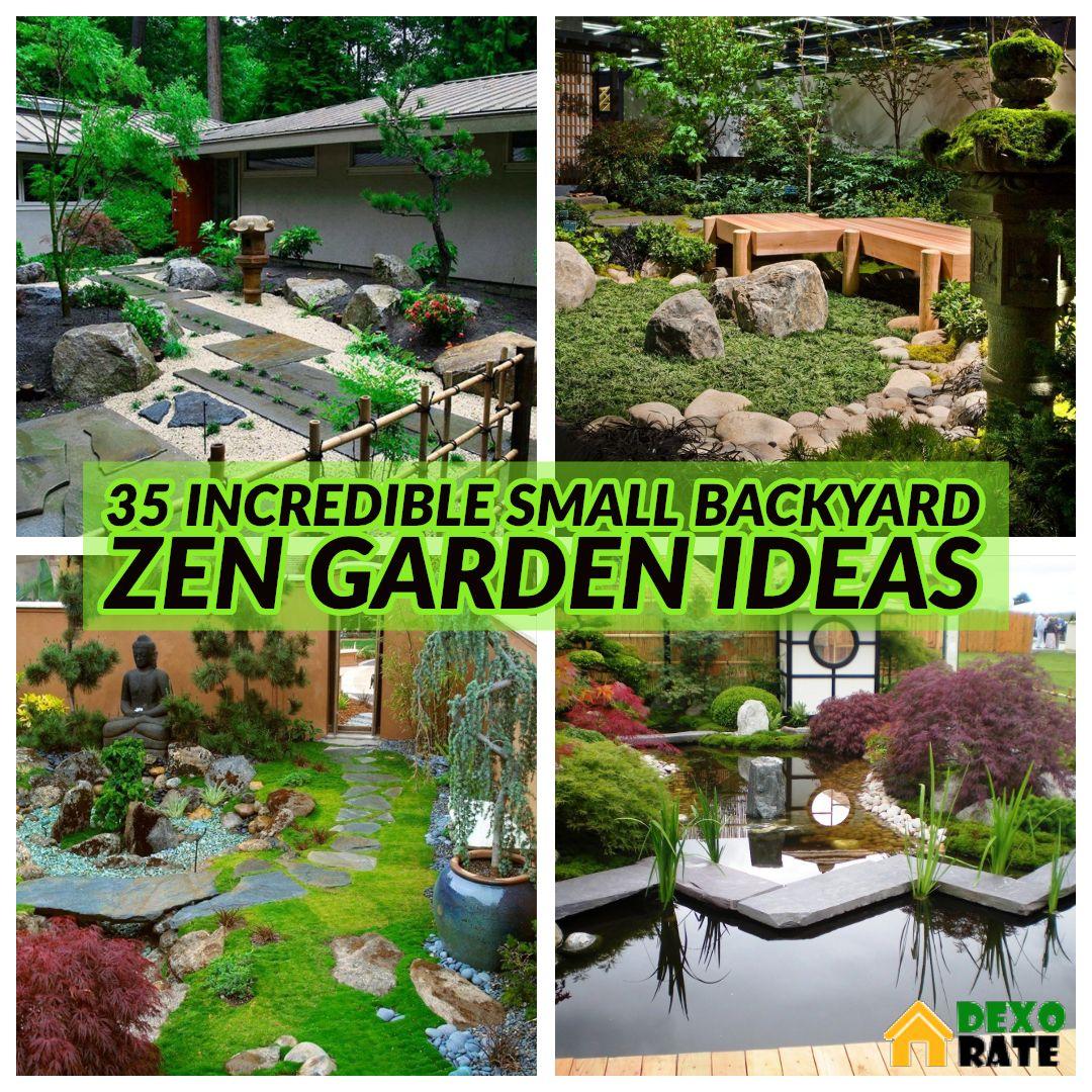35 Incredible Small Backyard Zen Garden Ideas For Relax Spaces Dexorate Zen Garden Design Small Japanese Garden Zen Garden