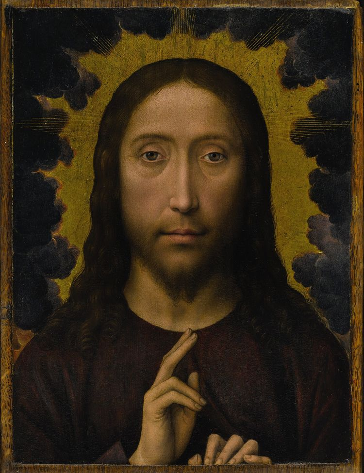 """Christ Blessing,"" by 15th-century Flemish master Hans Memling"