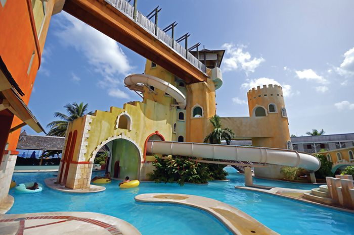 Lounge In The Lazy River At The Water Park At Sunscape