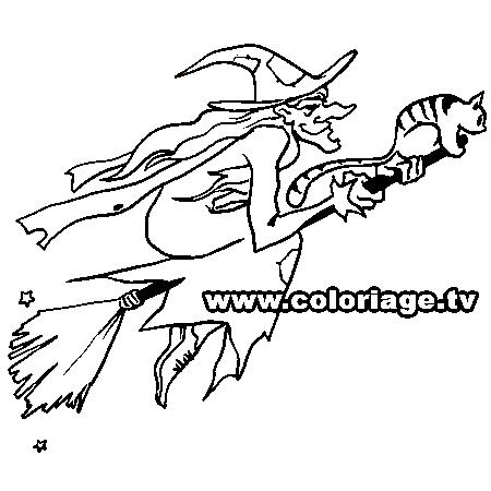 dessin halloween sorciere a colorier dessin colorier et. Black Bedroom Furniture Sets. Home Design Ideas