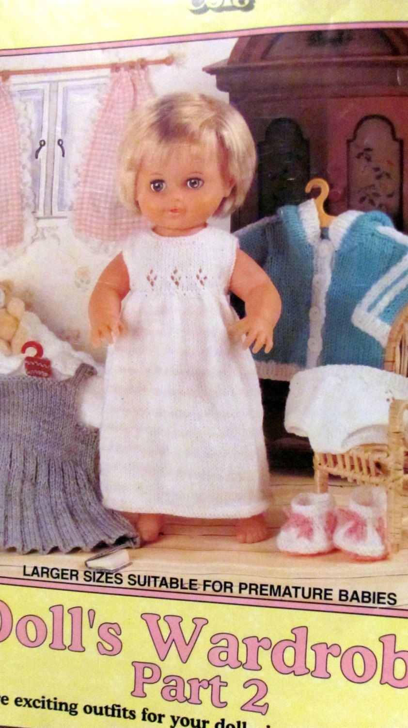 Dolls wardrobe part 2 knitting patterns 13 doll clothes dolls wardrobe part knitting patterns 13 doll clothes patterns larger sizes suitable for premature baby clothes king cole 620 by onceuponanheirloom on bankloansurffo Choice Image