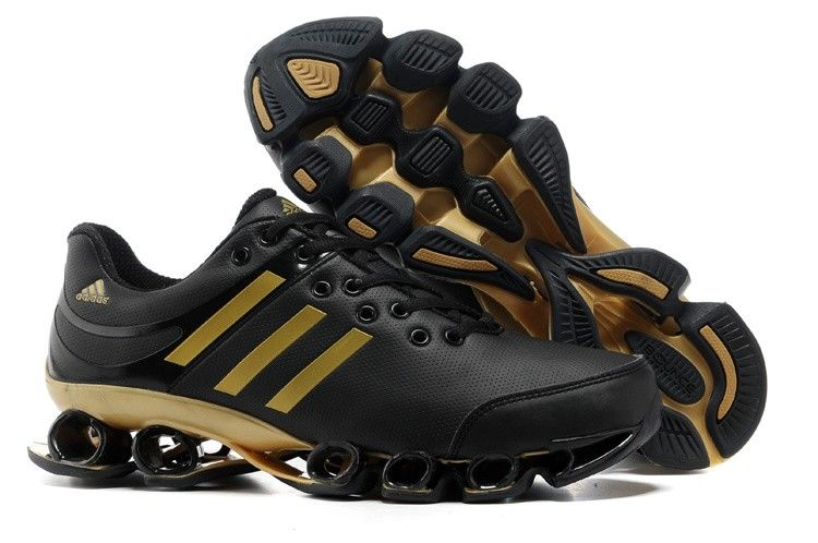 3be5de8e7724e Tenis Adidas Bounce V2 Leather Mens Black Golden Sport Running Shoes adidas  outlet Regular Price