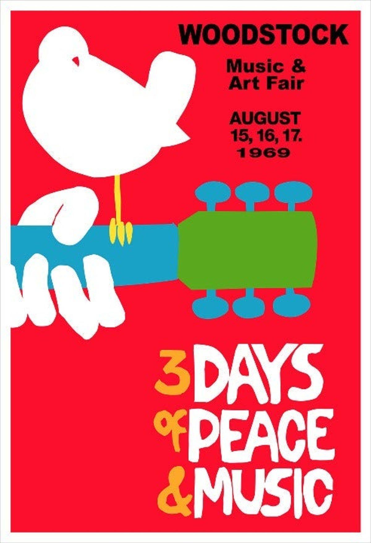 "Woodstock Red Music Festival Poster 24/"" x 36/"""