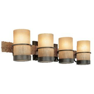 Photo of Troy Lighting B1844BB Bamboo Bronze with Natural Slate Bamboo 4 Light Bathroom Vanity Light – LightingDirect.com