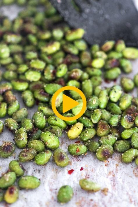 Crispy Snack Edamame- this recipe is so easy and is the perfect addictive health... Crispy Snack Edamame- this recipe is so easy and is the perfect addictive health...