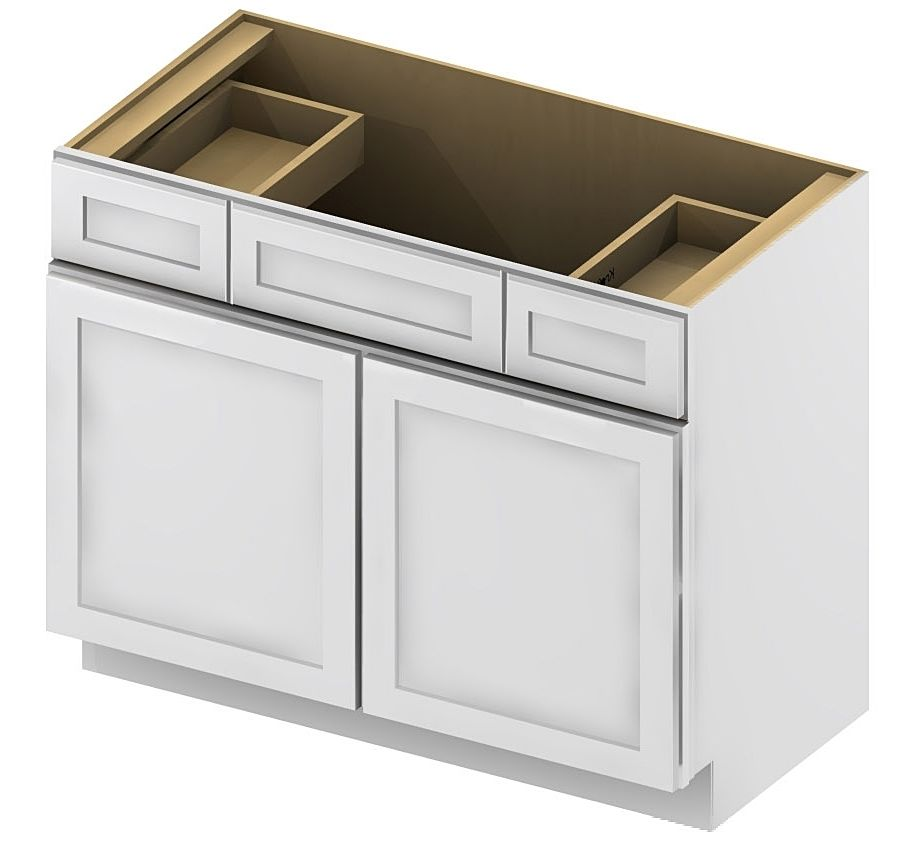 Kitchen Cabinet Concepts Vanity Sink Drawer Base Cabinet 42 Inch Shaker White Vsd42 332 00 Http Kitchencabinetconcepts Vanity Sink Base Cabinets Vanity