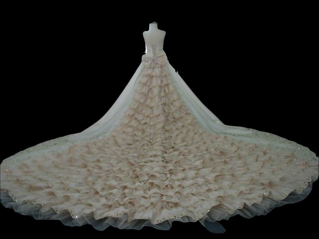wedding gowns with very long trains long train wedding gown n 06